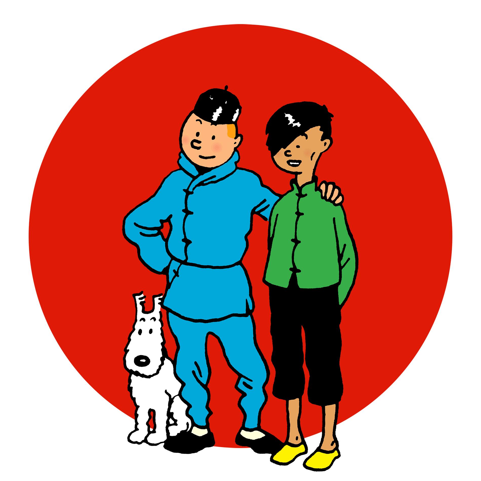 Milou, Tintin et Tchang