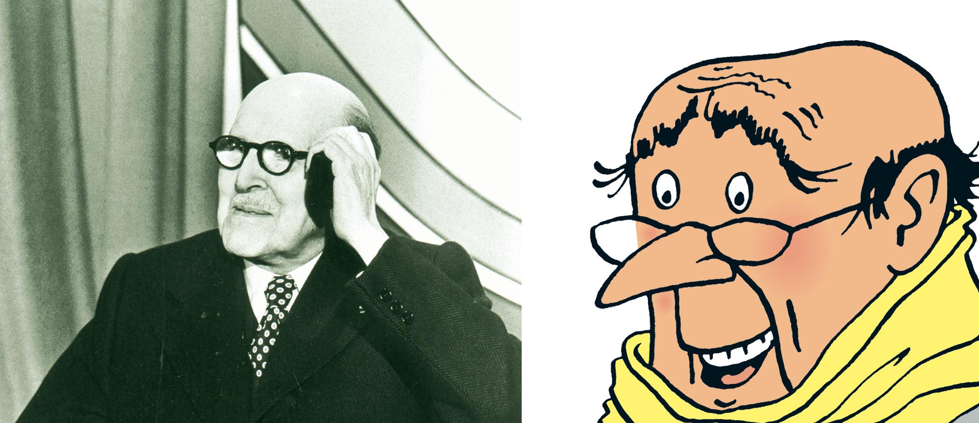 Tintin - Les Aventures de Tintin - Vol 714 pour Sydney - Marcel Dassault - personnage Laszlo