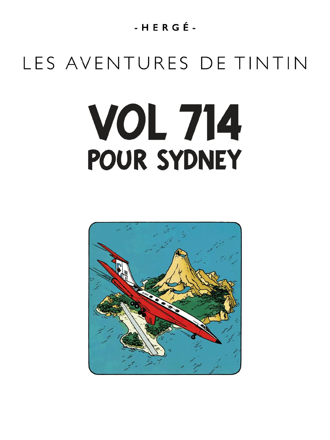 Vol 714 pour Sydney - page titre